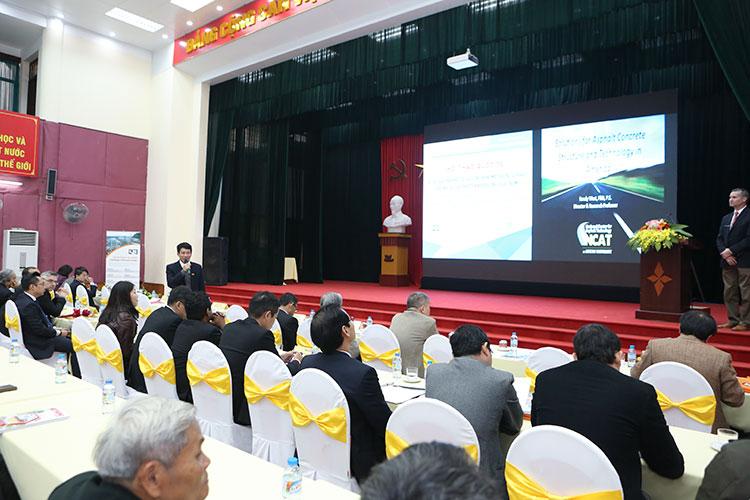 Hội thảo quốc tế về các giải pháp kết cấu và công nghệ mặt đường Asphalt ở Việt Nam